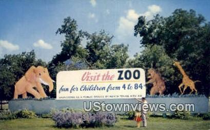 Forest Park Municipal Zoo - Fort Worth, Texas TX Postcard