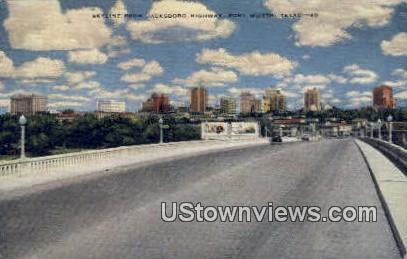 Jacksboro Highway - Fort Worth, Texas TX Postcard