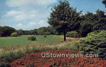 Botanical Gardens, Trinity Park - Fort Worth, Texas TX Postcard