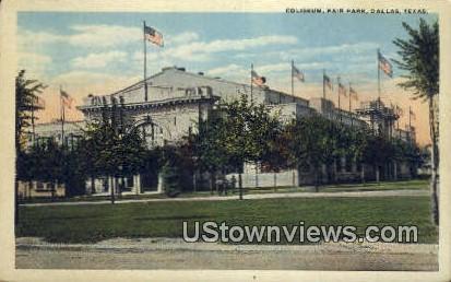 Coliseum, Fair Park - Dallas, Texas TX Postcard
