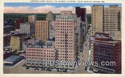 7th Street Canyon - Fort Worth, Texas TX Postcard