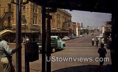Exchange Ave. - Fort Worth, Texas TX Postcard
