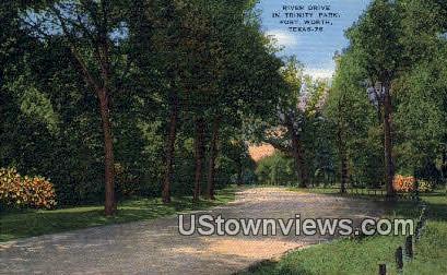 River Drive, Trinity Park - Fort Worth, Texas TX Postcard