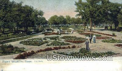 City Park - Fort Worth, Texas TX Postcard