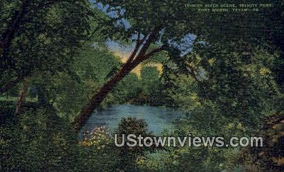 Trinity River, Trinity Park - Fort Worth, Texas TX Postcard