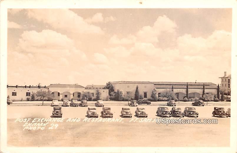 Post Exchange and Restaurant - Fort Sam, Texas TX Postcard