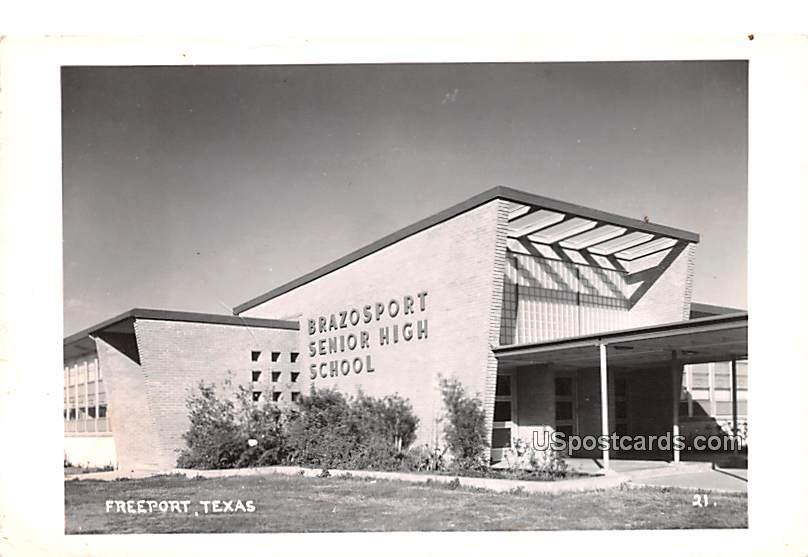 Brazosport Senior High School - Freeport, Texas TX Postcard