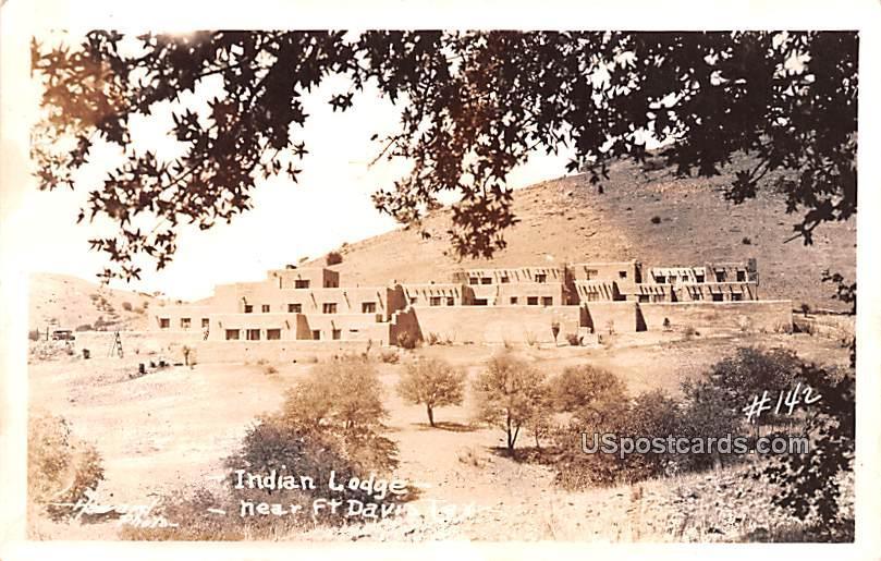 Indian Lodge - Fort Davis, Texas TX Postcard