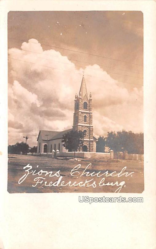 Zions Church - Fredericks, Texas TX Postcard
