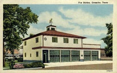 Fire Station - Gonzales, Texas TX Postcard