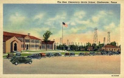 The New Elementary Grade School  - Gladwater, Texas TX Postcard