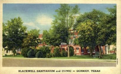 Blackwell Sanitarium And Clinic - Gorman, Texas TX Postcard