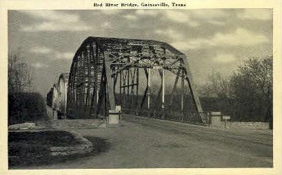 Red River Bridge  - Gainesville, Texas TX Postcard
