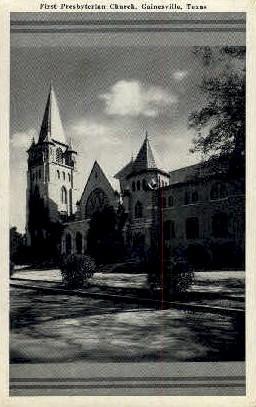 First Presbyterian Church - Gainesville, Texas TX Postcard