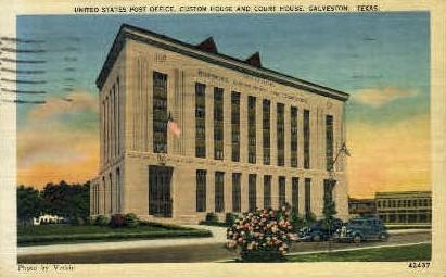 United States Post Office - Galveston, Texas TX Postcard