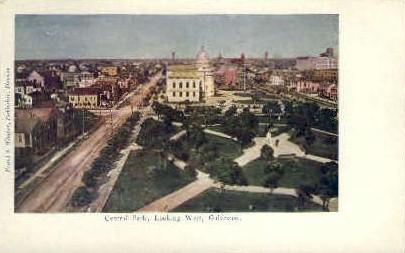 Central Park - Galveston, Texas TX Postcard