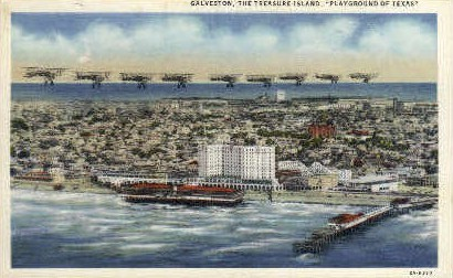 Playground of Texas - Galveston Postcard