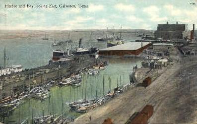 Harbor And Bay - Galveston, Texas TX Postcard