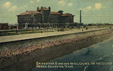 The Million Dollar Galvez Hotel - Galveston, Texas TX Postcard