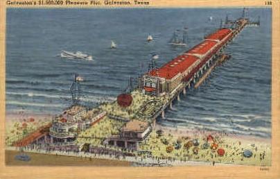 $1,500,000 Pleasure Pier - Galveston, Texas TX Postcard