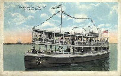 Excursion Boat - Galveston, Texas TX Postcard