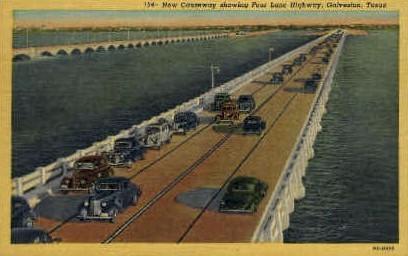 Four Lane Highway - Galveston, Texas TX Postcard