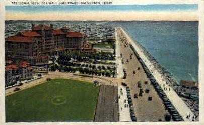 Sectional View  - Galveston, Texas TX Postcard