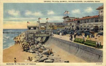 Crystal Palace - Galveston, Texas TX Postcard