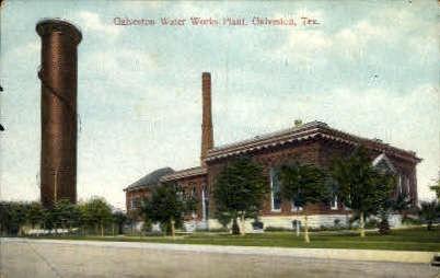 Galveston Water Works Plant - Texas TX Postcard