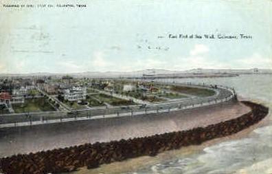 East End Of Sea - Galveston, Texas TX Postcard