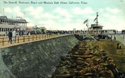 Murdock Bath House  - Galveston, Texas TX Postcard