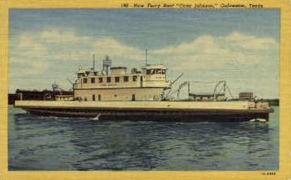 Cone Johnson - Galveston, Texas TX Postcard