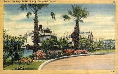 Scenic Landing - Galveston, Texas TX Postcard