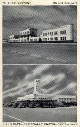 8th And Boulevard - Galveston, Texas TX Postcard