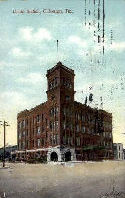 Union Station - Galveston, Texas TX Postcard