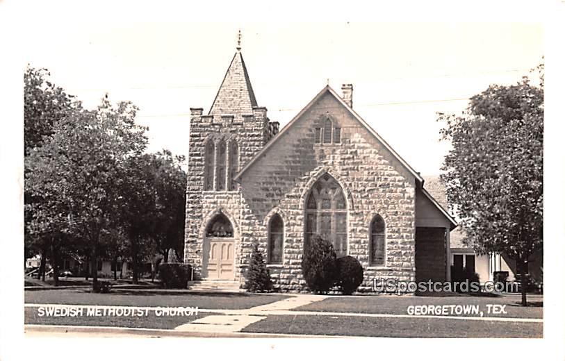 Swedish Methodist Church - Georgetown, Texas TX Postcard