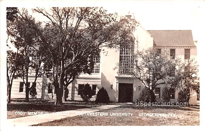 Cody Memorial Library - Georgetown, Texas TX Postcard