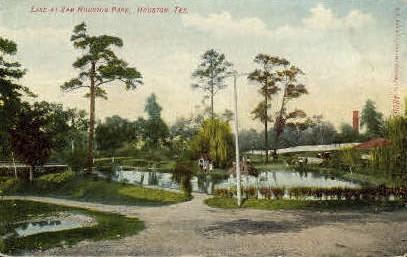 Lake At Sam Houston Park - Texas TX Postcard