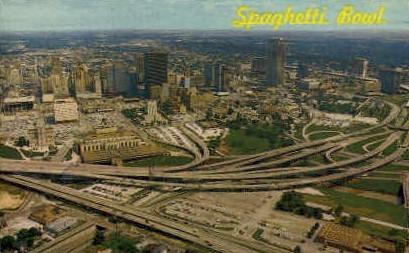 Spaghetti Bowl - Houston, Texas TX Postcard