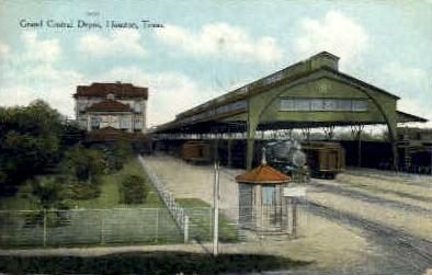 Grand Central Depot - Houston, Texas TX Postcard