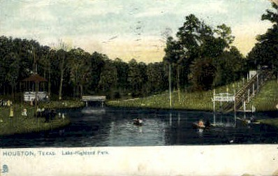 Lake Highland Park - Houston, Texas TX Postcard