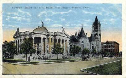 Carnegie Library - Houston, Texas TX Postcard