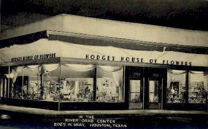Hodges House Of Flowers - Houston, Texas TX Postcard