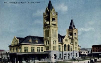 City Hall - Houston, Texas TX Postcard