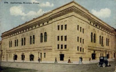 Auditorium - Houston, Texas TX Postcard