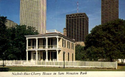 Sam Houston Park - Texas TX Postcard
