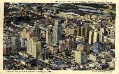 Business District - Houston, Texas TX Postcard