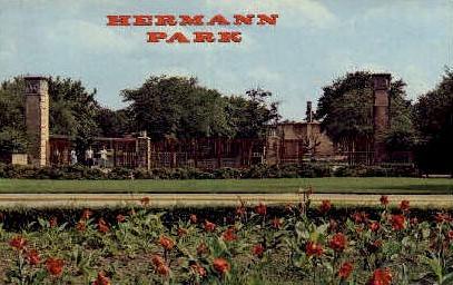 Herman Park Zoo - Houston, Texas TX Postcard