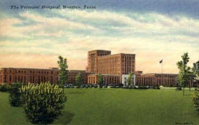 The Veterans' Hospital - Houston, Texas TX Postcard