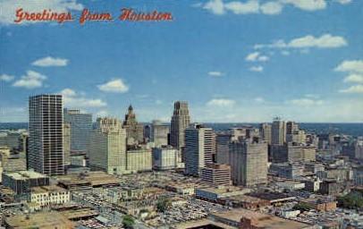 Greetings - Houston, Texas TX Postcard